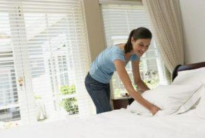 تنظيف غرفة النوم